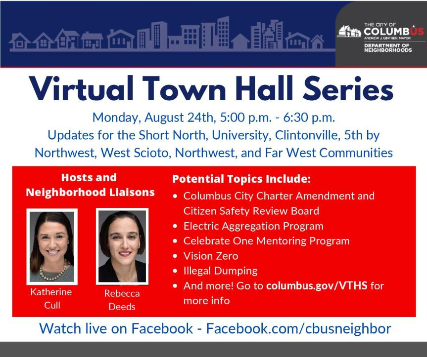 Town Hall on Monday, August 24th